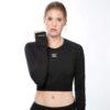 Displayedclothing maglietta maniche lunghe nera