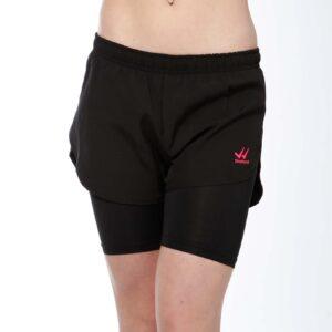 Displayedclothing pantaloncino corto nero doppio