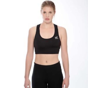 Displayedclothing top nero con logo piccolo