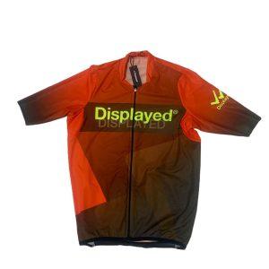 Displayedclothing maglietta estiva ciclismo arancione fronte