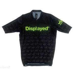 Displayedclothing maglietta estiva ciclismo nera fronte