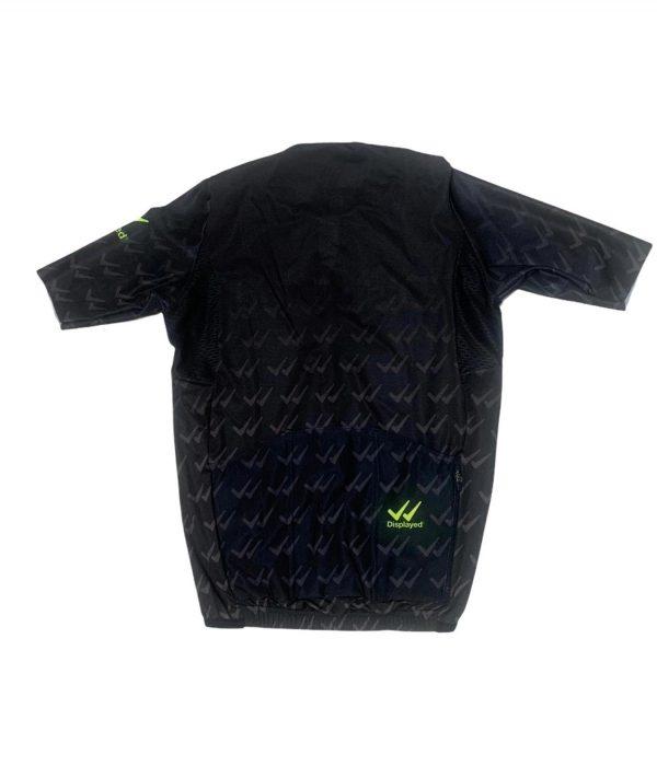 Displayedclothing maglietta estiva ciclismo nera retro